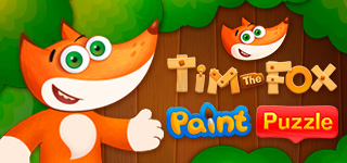 Tim the Fox Paint and Puzzle